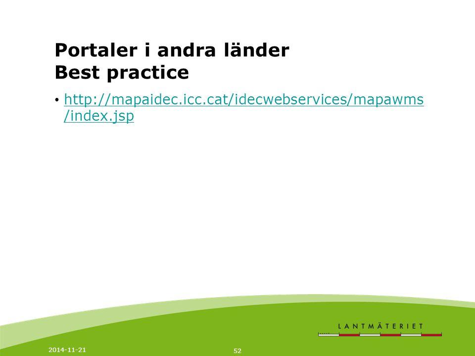 Portaler i andra länder Best practice