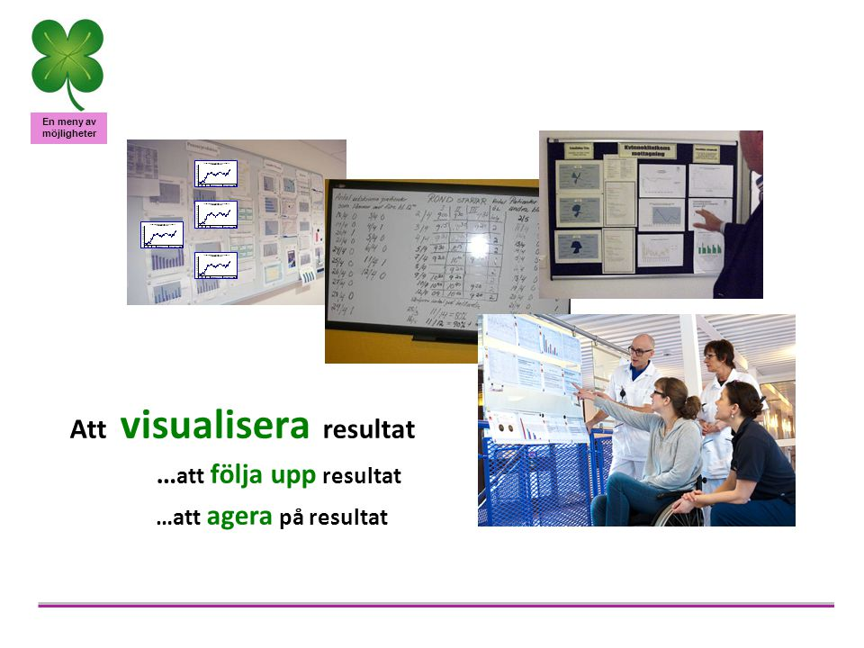 Att visualisera resultat …att följa upp resultat