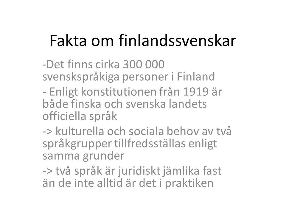 Fakta om finlandssvenskar