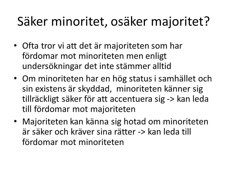 Säker minoritet, osäker majoritet