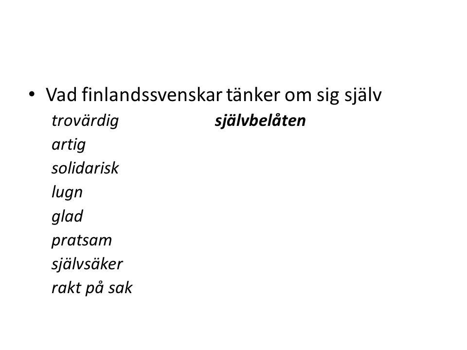 Vad finlandssvenskar tänker om sig själv