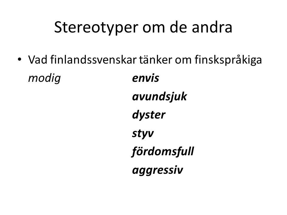Stereotyper om de andra