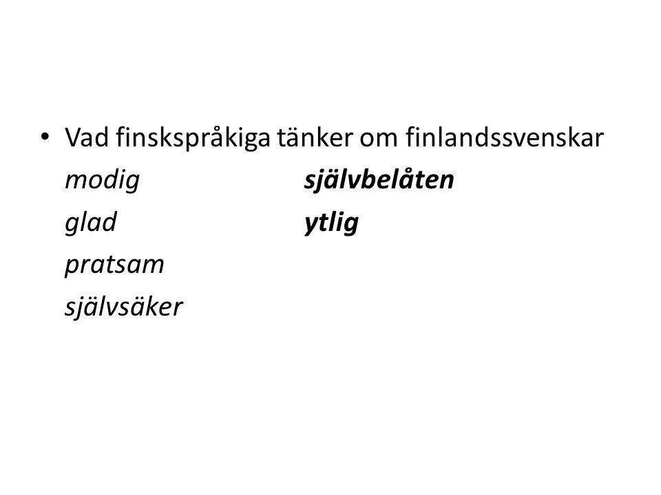 Vad finskspråkiga tänker om finlandssvenskar