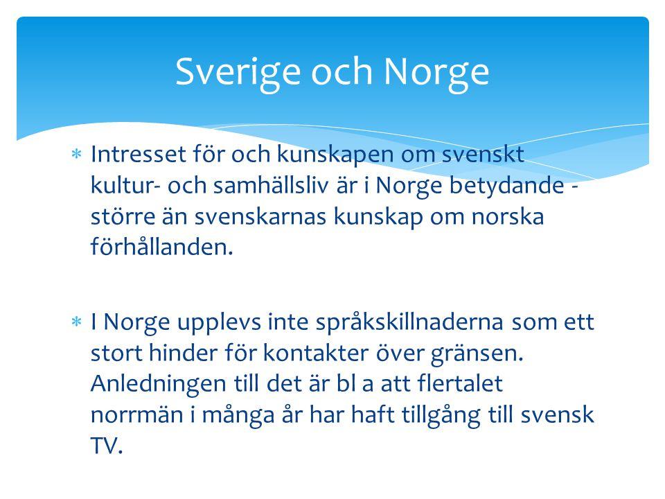 Sverige och Norge