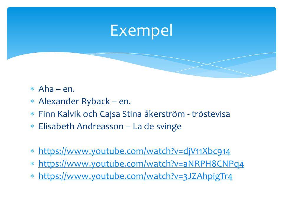 Exempel Aha – en. Alexander Ryback – en.