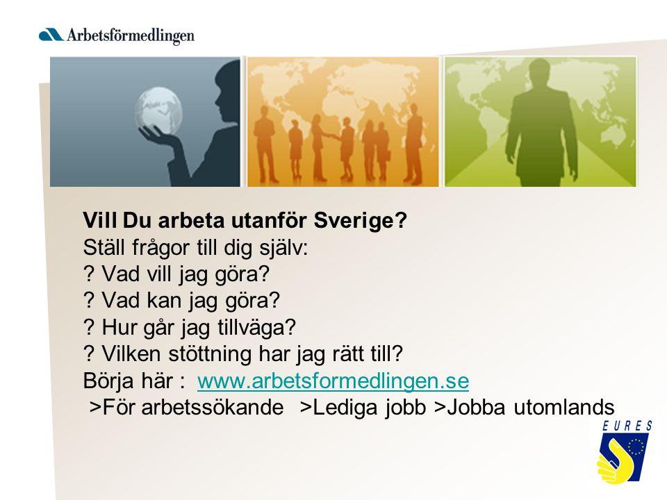 Vill Du arbeta utanför Sverige. Ställ frågor till dig själv: