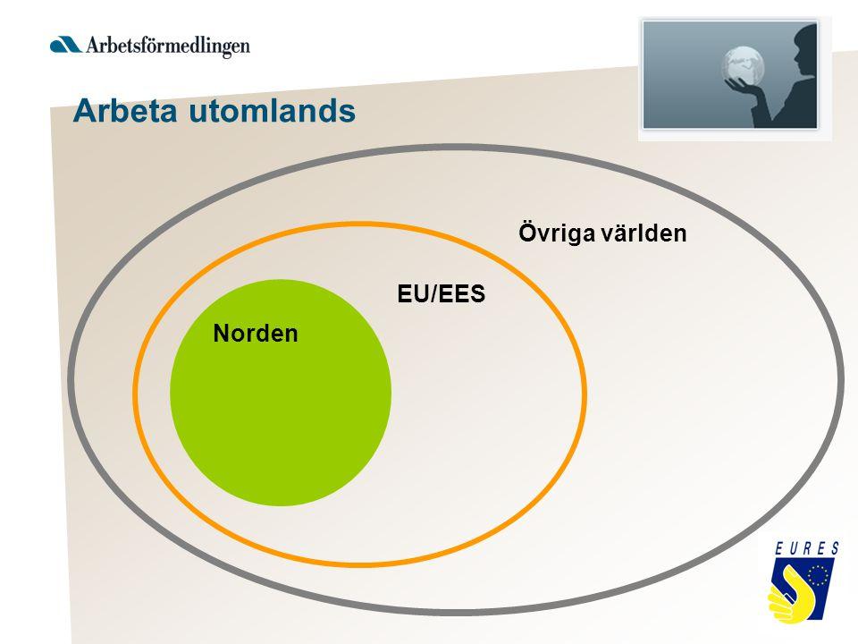 Arbeta utomlands Övriga världen EU/EES Norden