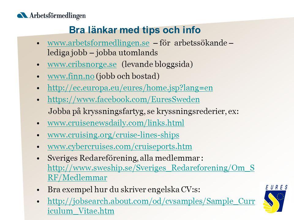 Bra länkar med tips och info