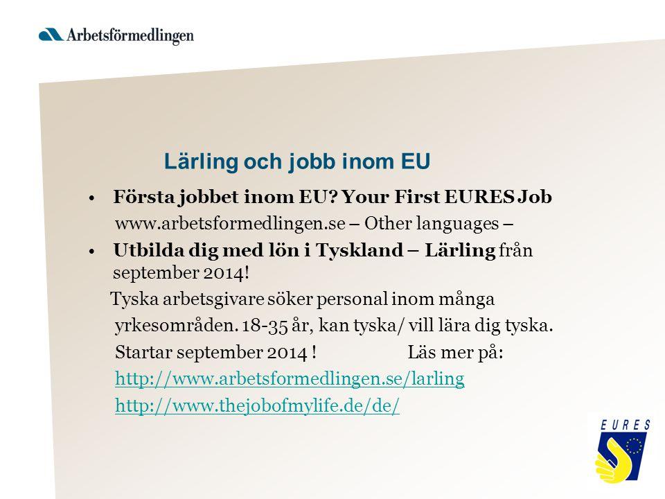 Lärling och jobb inom EU