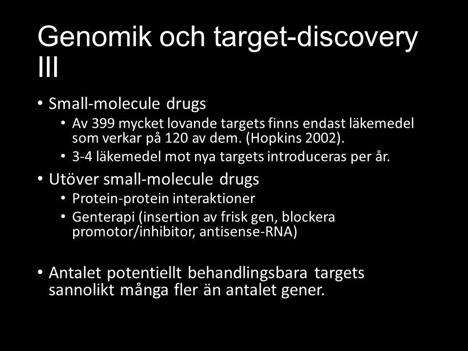 Genomik och target-discovery III