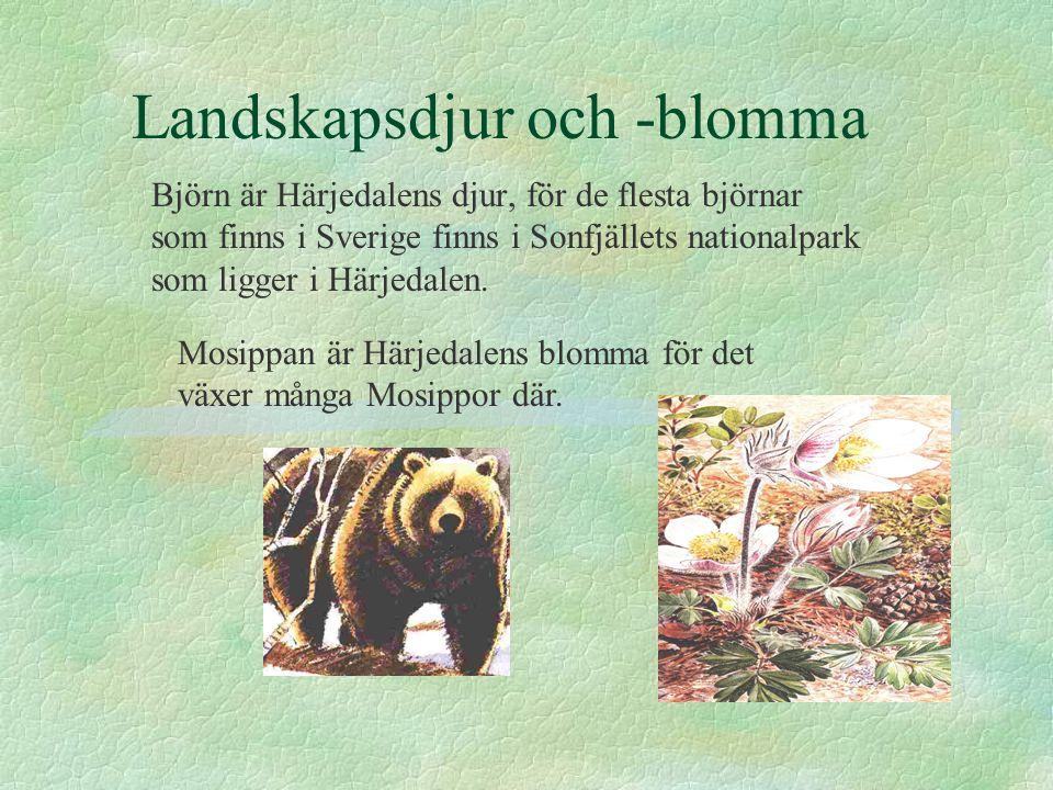 Landskapsdjur och -blomma