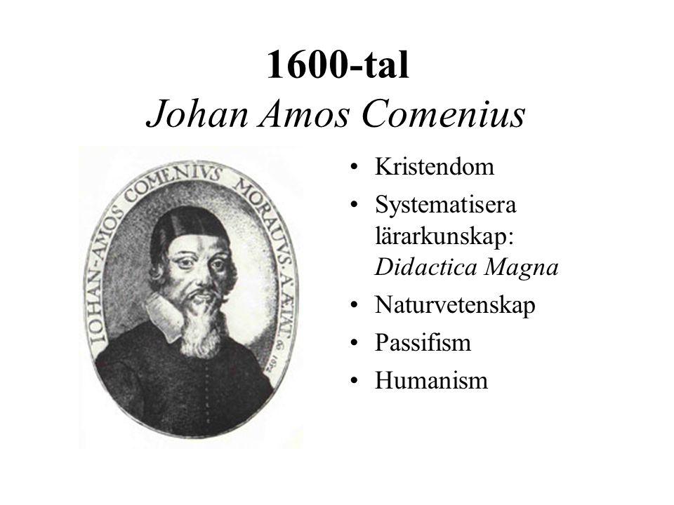 1600-tal Johan Amos Comenius