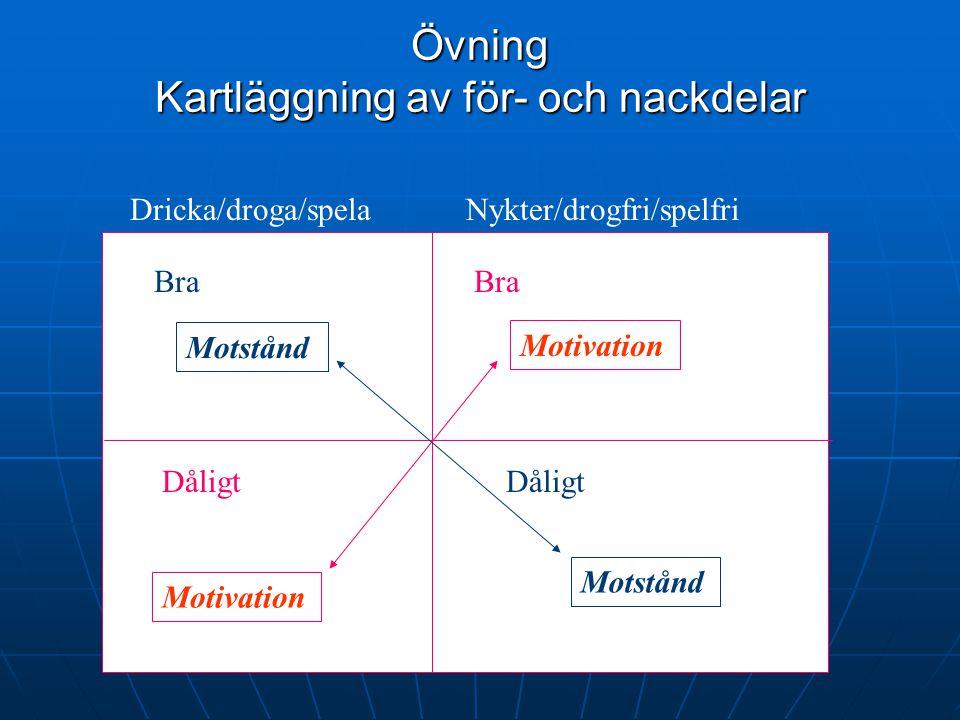 Övning Kartläggning av för- och nackdelar