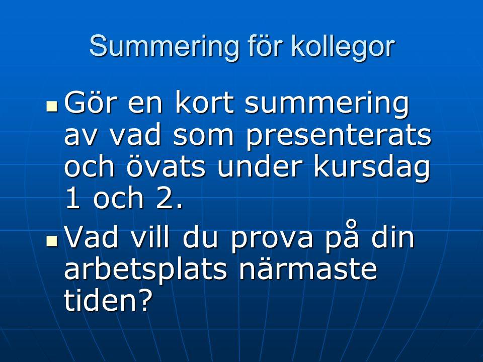Summering för kollegor