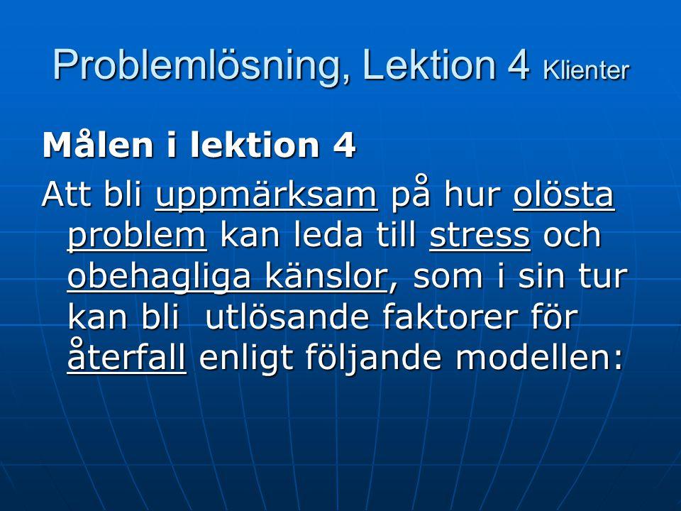 Problemlösning, Lektion 4 Klienter