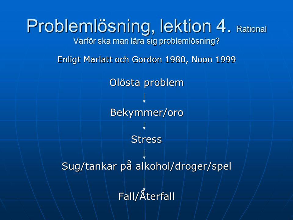 Problemlösning, lektion 4