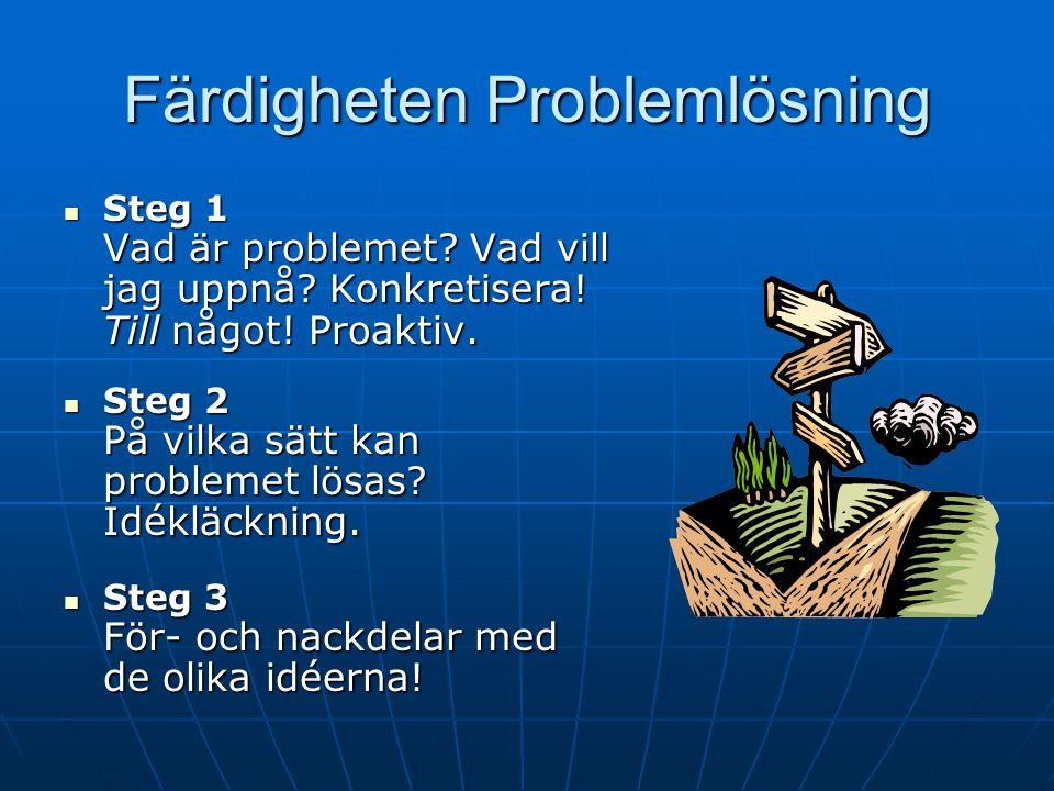 Färdigheten Problemlösning