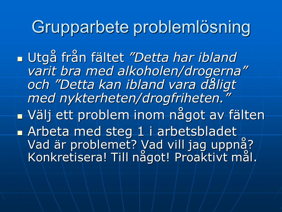 Grupparbete problemlösning