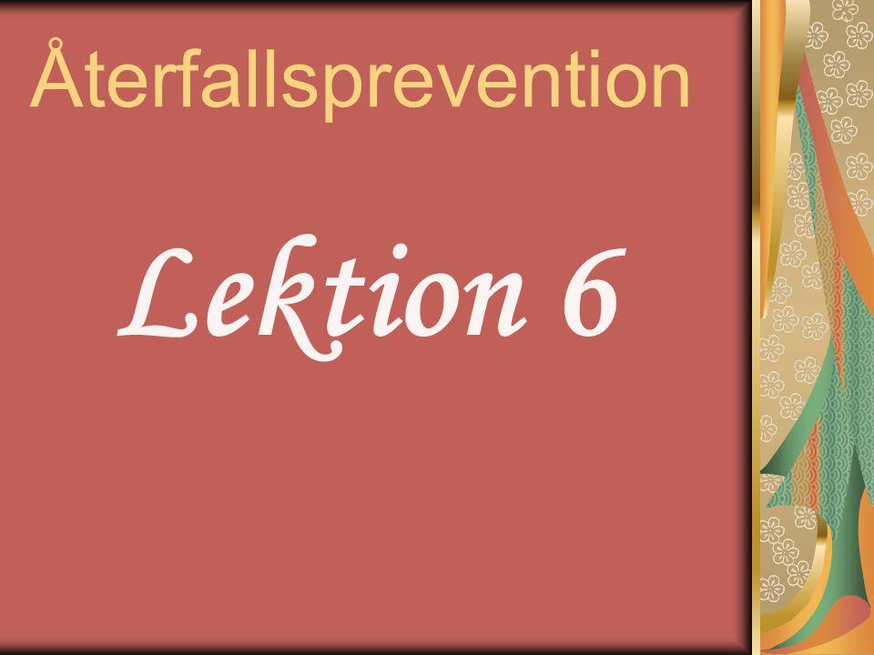 Återfallsprevention Lektion 6
