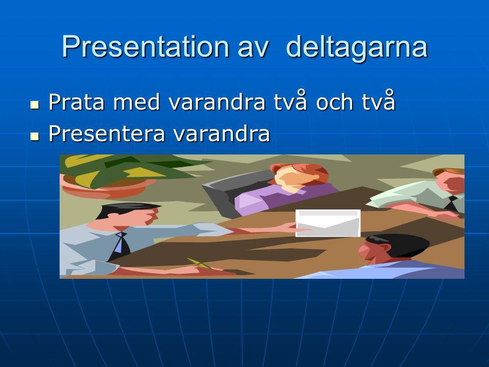 Presentation av deltagarna
