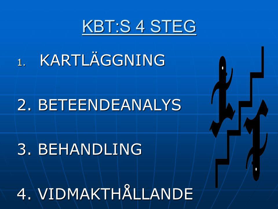 KBT:S 4 STEG KARTLÄGGNING 2. BETEENDEANALYS 3. BEHANDLING
