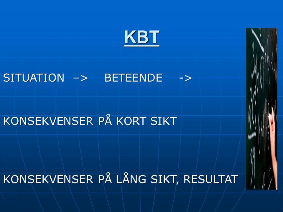 KBT SITUATION –> BETEENDE -> KONSEKVENSER PÅ KORT SIKT