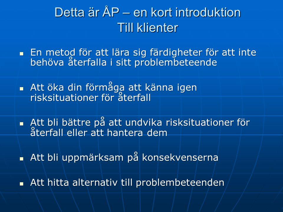 Detta är ÅP – en kort introduktion Till klienter
