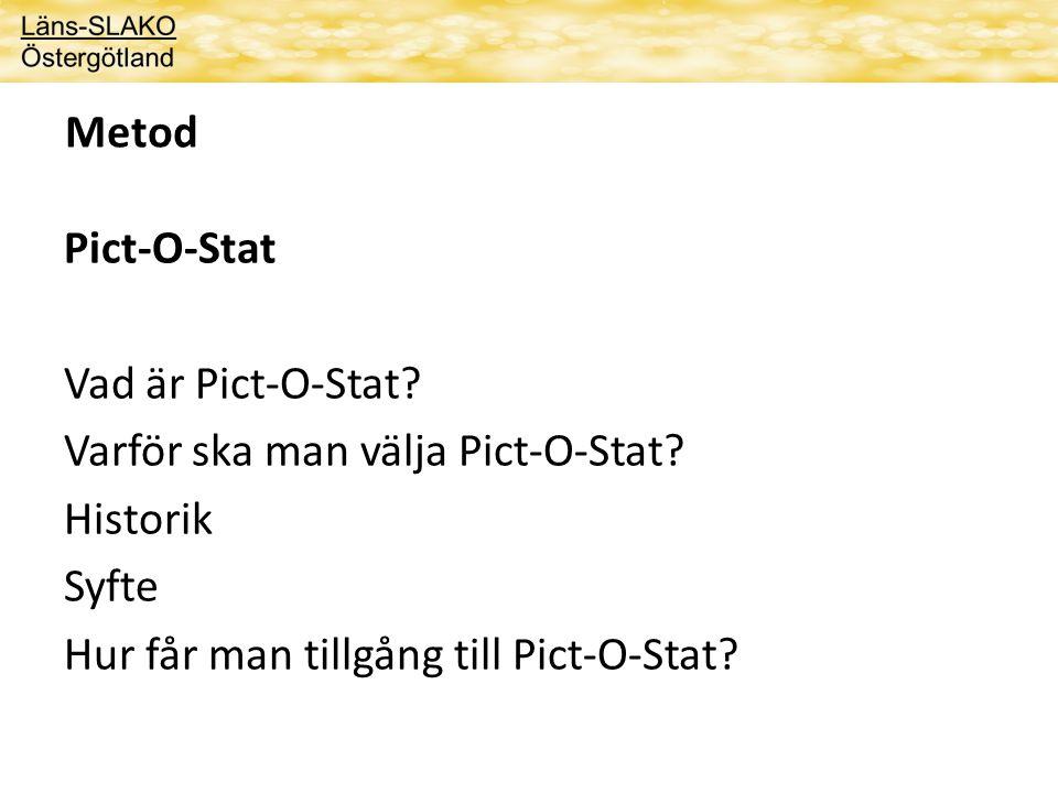 Metod Pict-O-Stat. Vad är Pict-O-Stat. Varför ska man välja Pict-O-Stat.