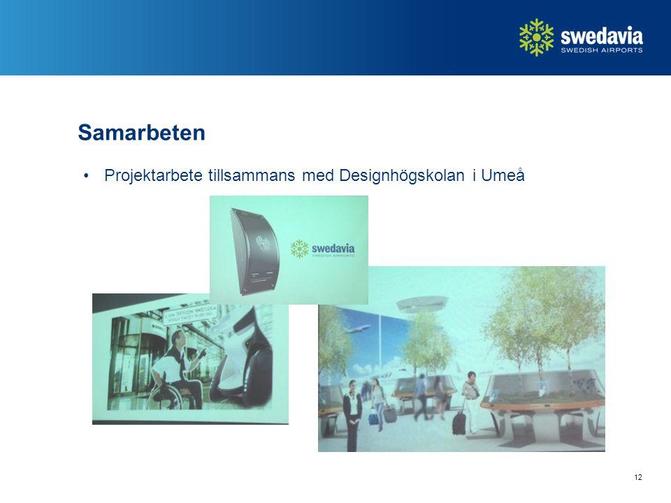 Samarbeten Projektarbete tillsammans med Designhögskolan i Umeå