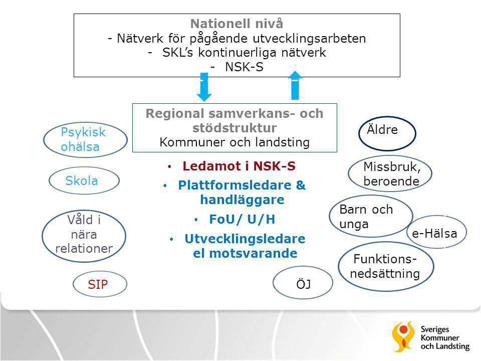 - Nätverk för pågående utvecklingsarbeten SKL's kontinuerliga nätverk
