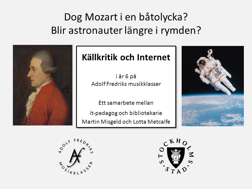 Dog Mozart i en båtolycka Blir astronauter längre i rymden