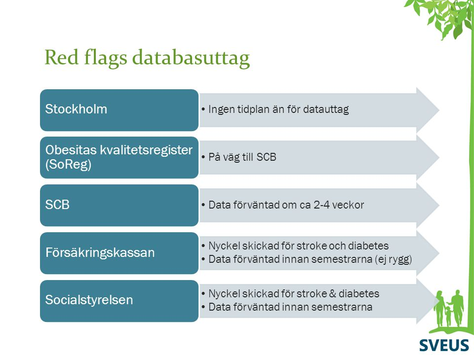 Red flags databasuttag