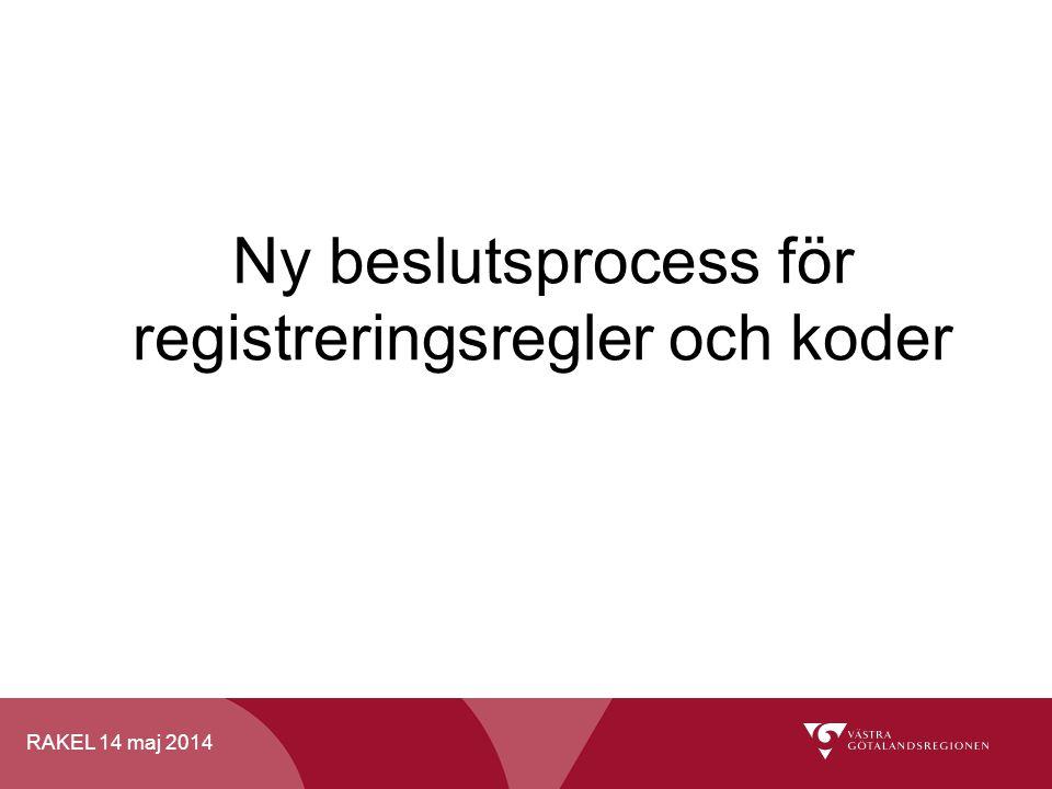 Ny beslutsprocess för registreringsregler och koder