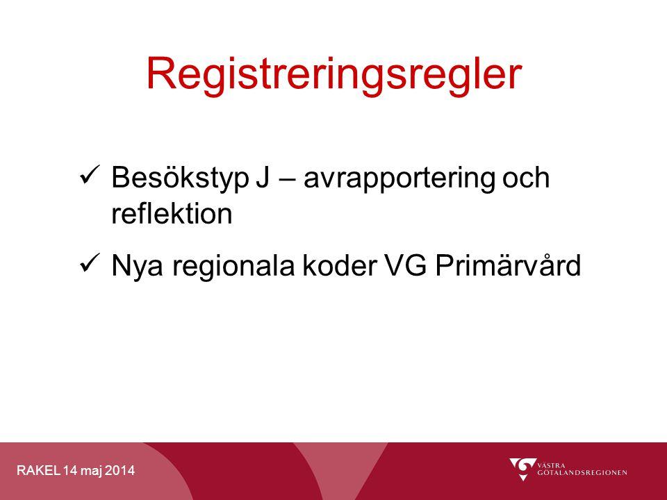 Registreringsregler Besökstyp J – avrapportering och reflektion