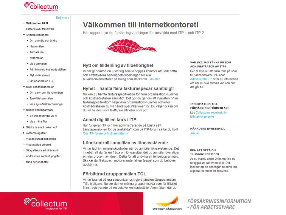 Collectum (Hyperlänk till skaffa fil finns på bilden) IK är ett rapporteringsvertyg, regelverk finns på Collectums hemsida.