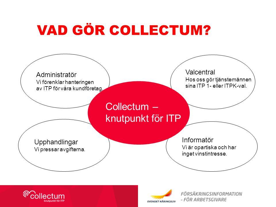 Vad gör Collectum Collectum – knutpunkt för ITP Valcentral