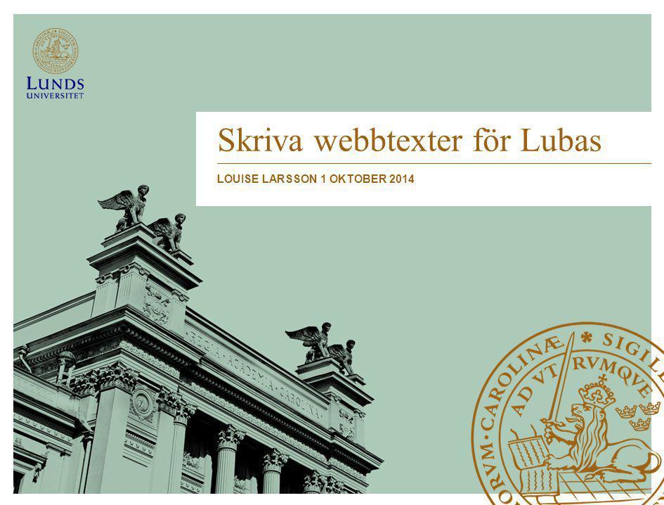 Skriva webbtexter för Lubas