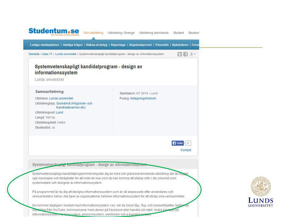 studentum.se Här hämtas LUBAS-innehållet till den egna sajten…