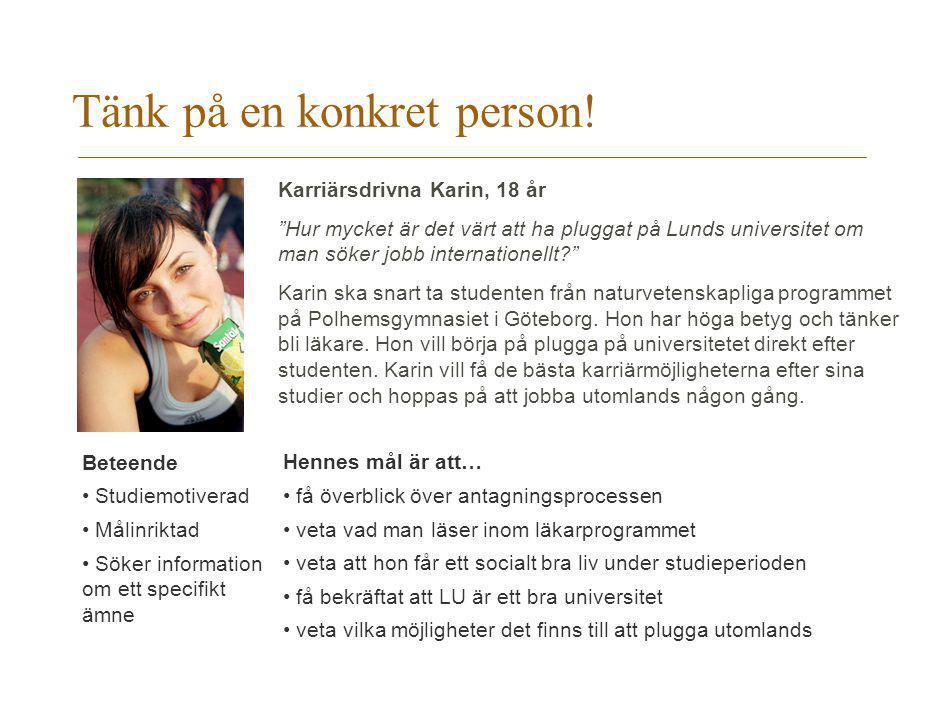 Tänk på en konkret person!