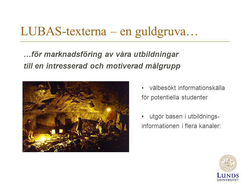 LUBAS-texterna – en guldgruva…