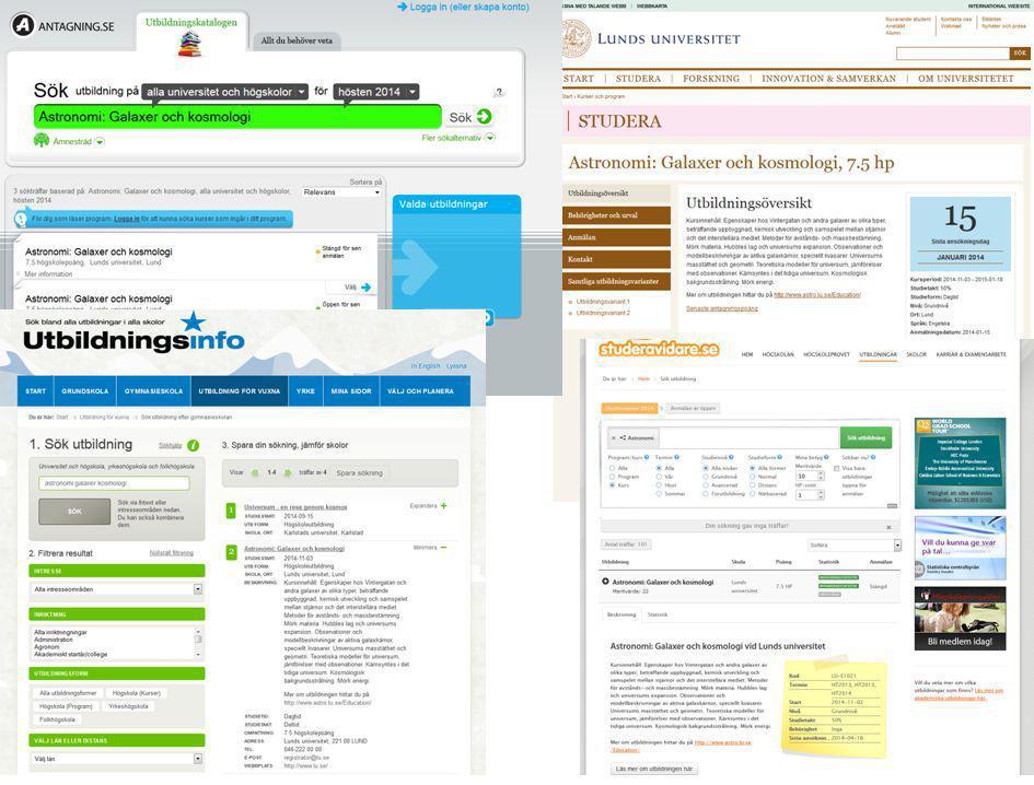 Lubas-texten visas inte bara på antagning. se och lu. se
