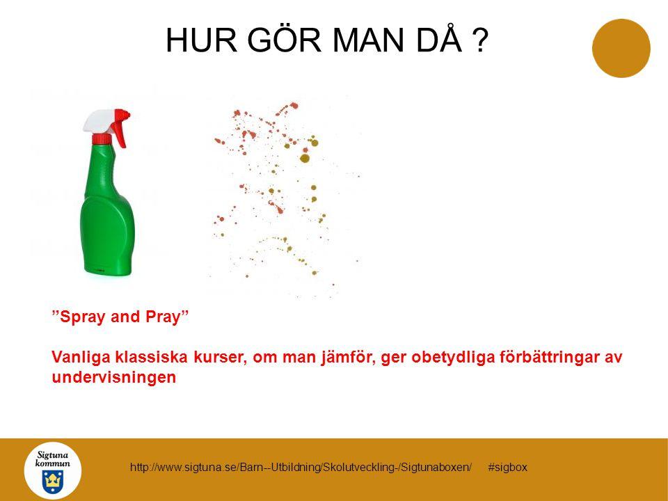 HUR GÖR MAN DÅ Spray and Pray