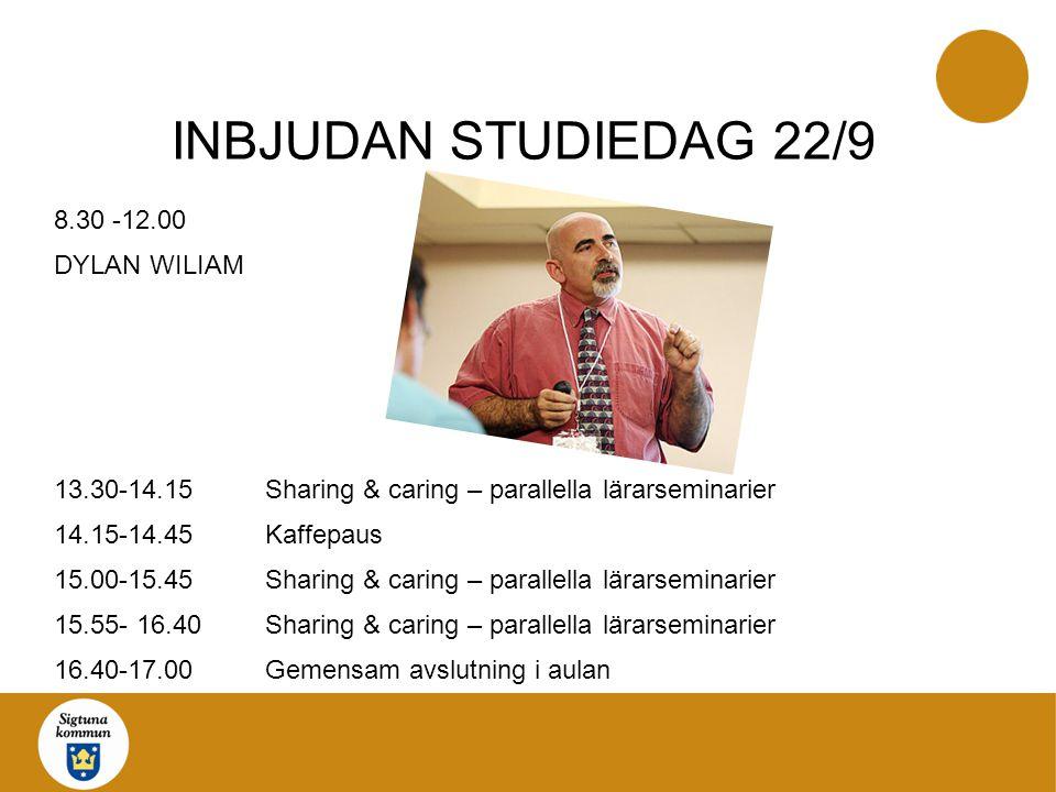 INBJUDAN STUDIEDAG 22/9