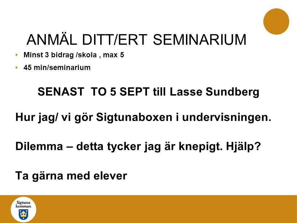ANMÄL DITT/ERT SEMINARIUM