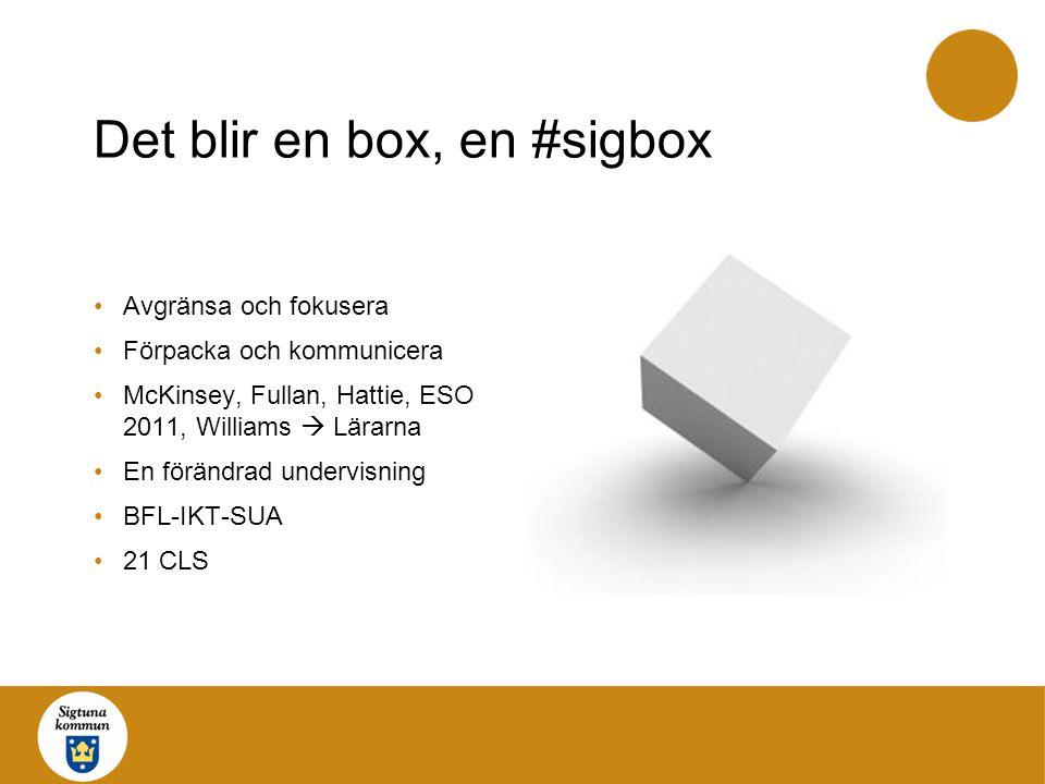Det blir en box, en #sigbox