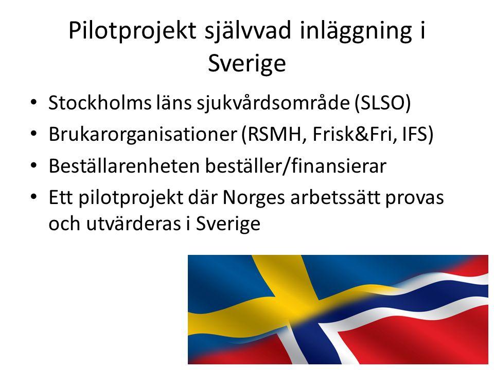 Pilotprojekt självvad inläggning i Sverige