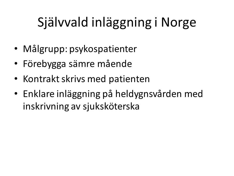 Självvald inläggning i Norge