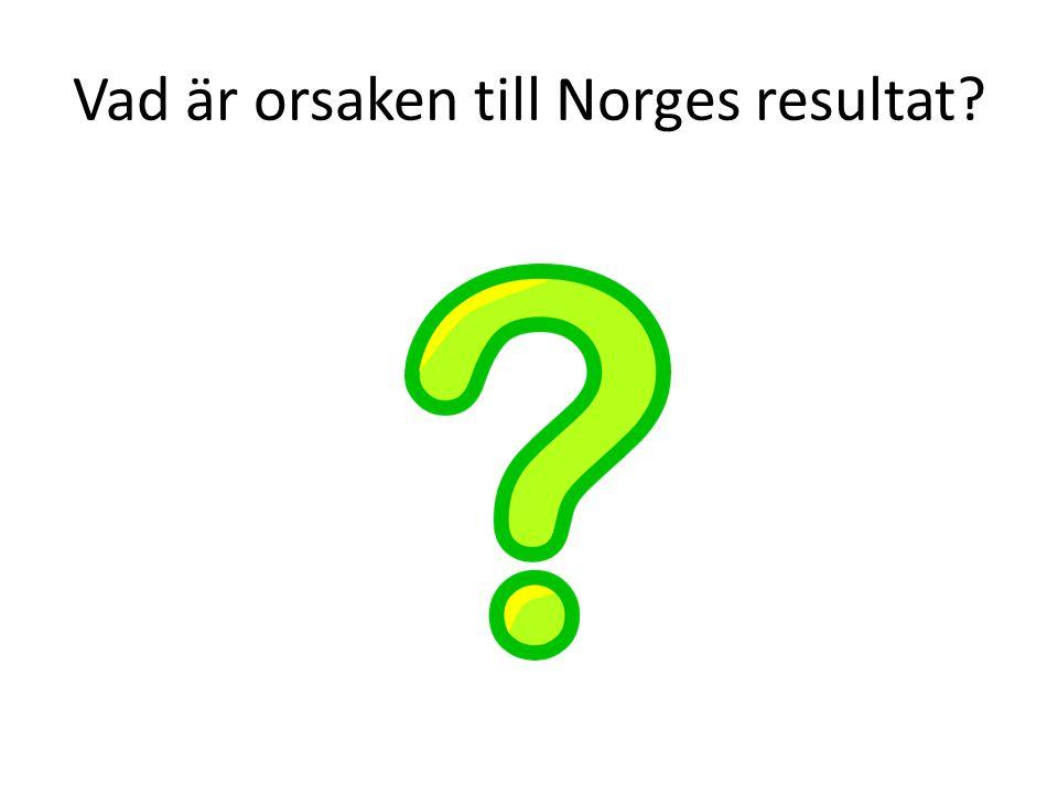 Vad är orsaken till Norges resultat