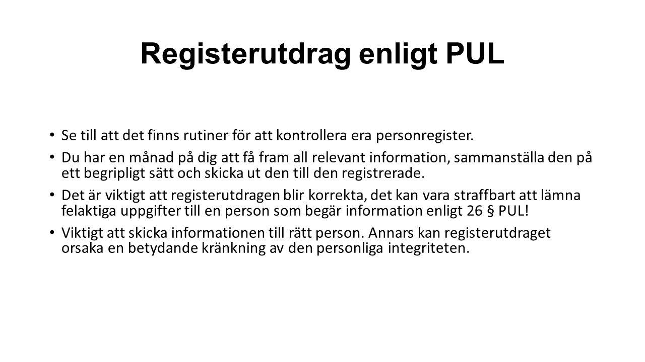 Registerutdrag enligt PUL