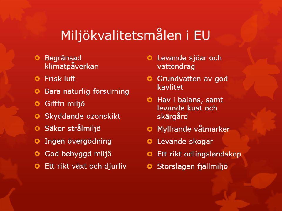 Miljökvalitetsmålen i EU